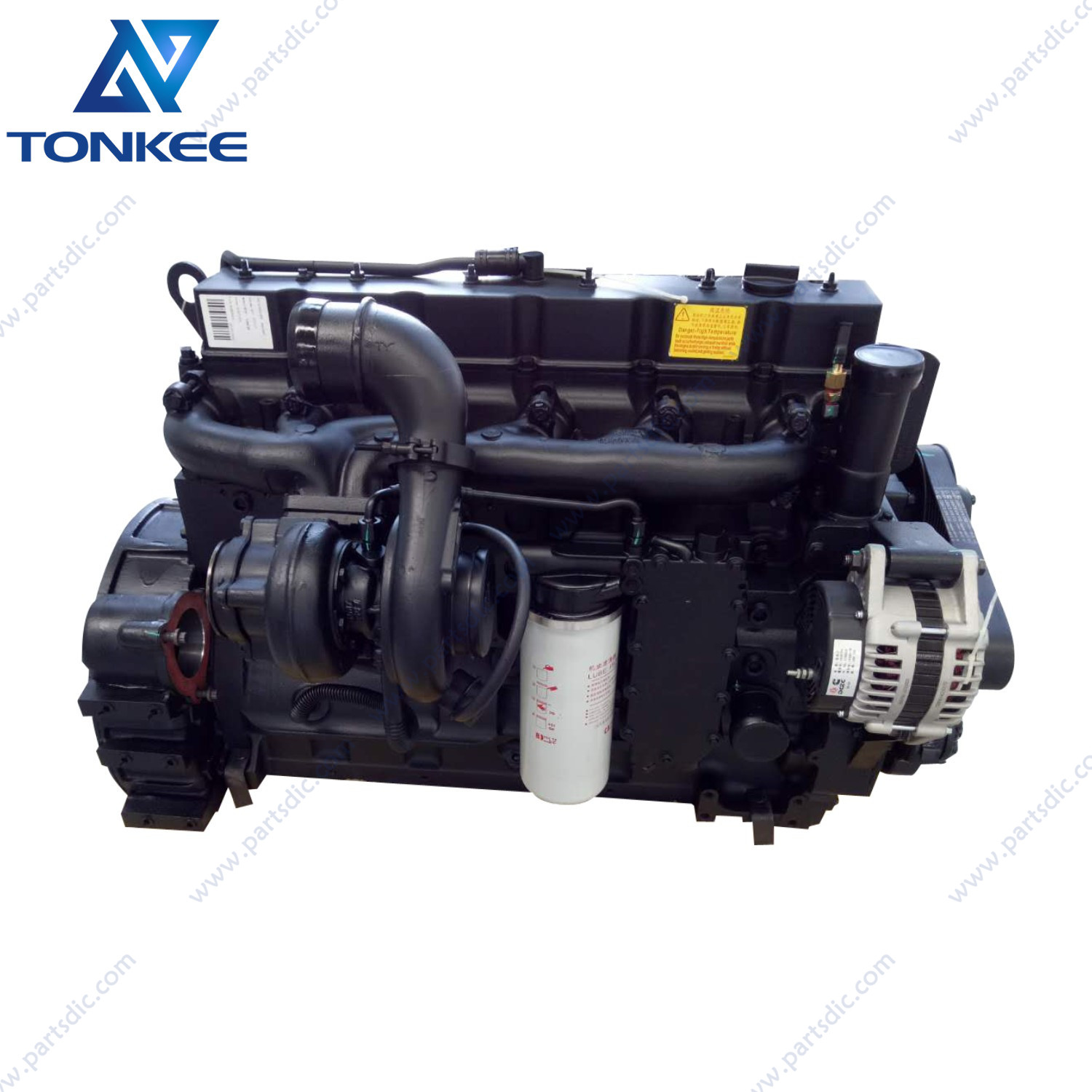 new SAA6D114E-2 6D114 6CT8.3 6C8.3 180KW 2200RPM diesel engine assy PC300-7 PC300LC-7 excavator complete engine assy for KOMATSU
