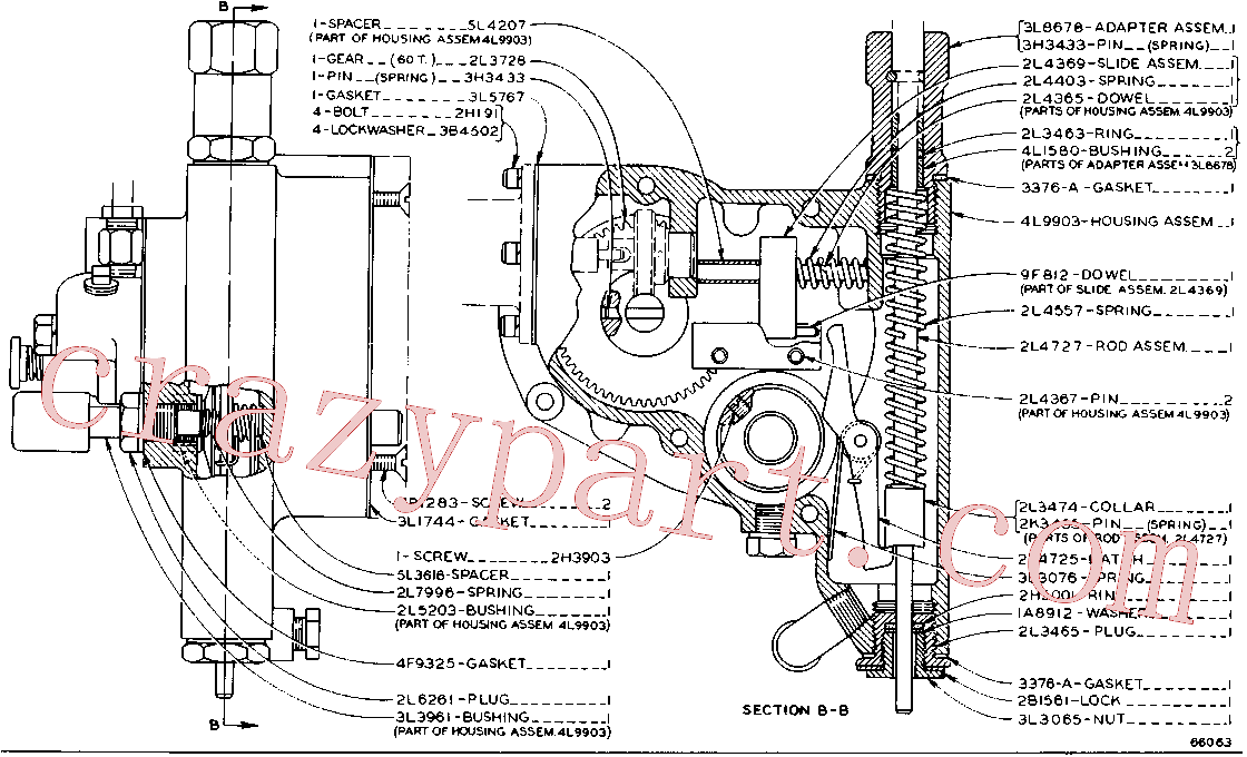 CAT 2K-3455 for 3516 Vehicular Engine(IENG) starting and electrical system 5L-1498 Assembly