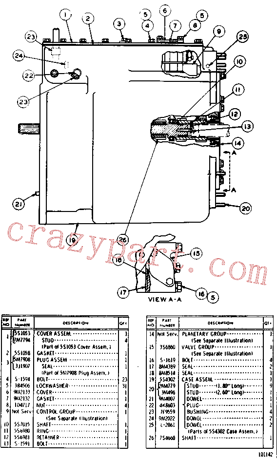 CAT 0L-2061 for 561D Pipelayer(PIPE) power train - power transmission unit 5S-1049 Assembly