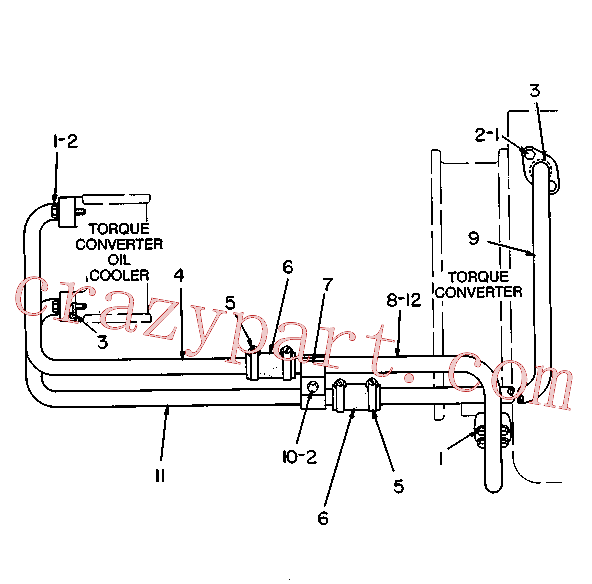 CAT 2H-8829 for 3306 Truck Engine(TENG) cooling system 6K-4881 Assembly