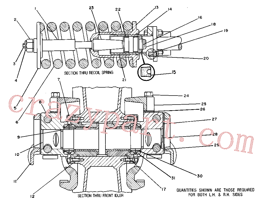 CAT 7M-1856 for 225D Excavator(EXC) chassis and undercarriage 5M-7739 Assembly