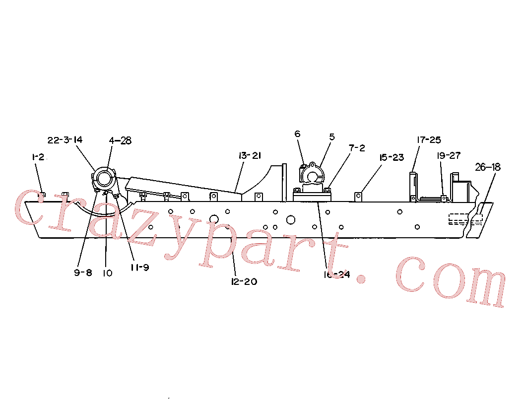 CAT 1D-4586 for 58L Winch(TTT) chassis and undercarriage 4K-5210 Assembly