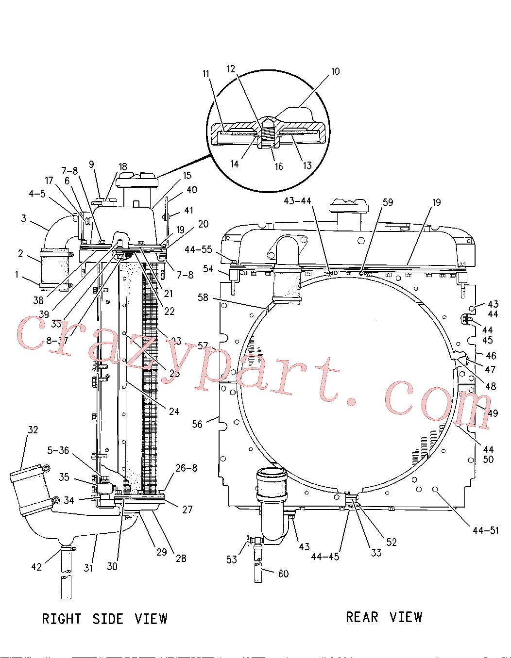 CAT 2H-8829 for 950 Wheel Loader(WTL) cooling system 2P-8185 Assembly