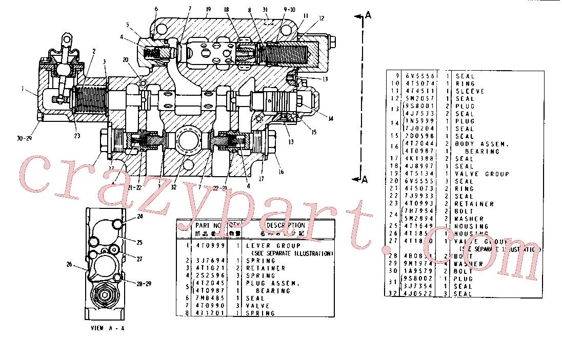CAT 2S-2596 for 323F L Excavator(EXC) hydraulic system 4T-5133 Assembly