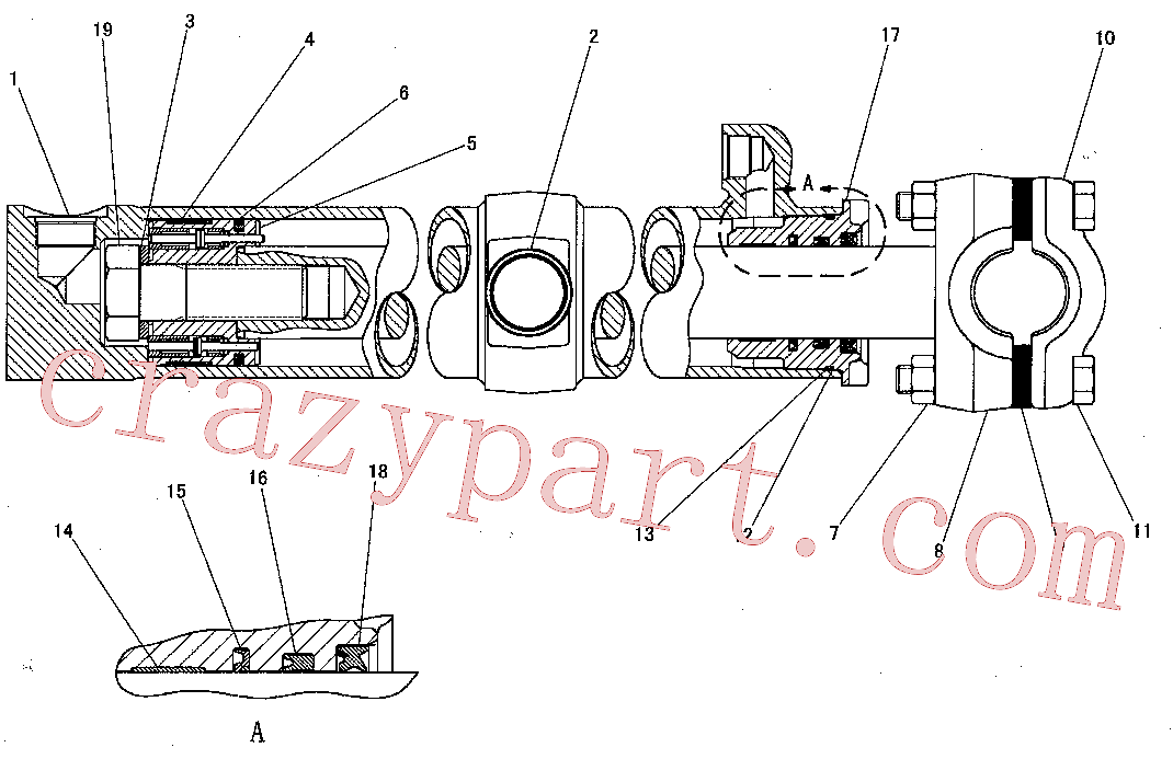 CAT 295-6407 for 6A Bulldozer(TTT) hydraulic system 127-8931 Assembly