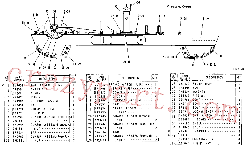 CAT 1D-4586 for 3512B Petroleum Engine(PETR) chassis and undercarriage 8K-5234 Assembly