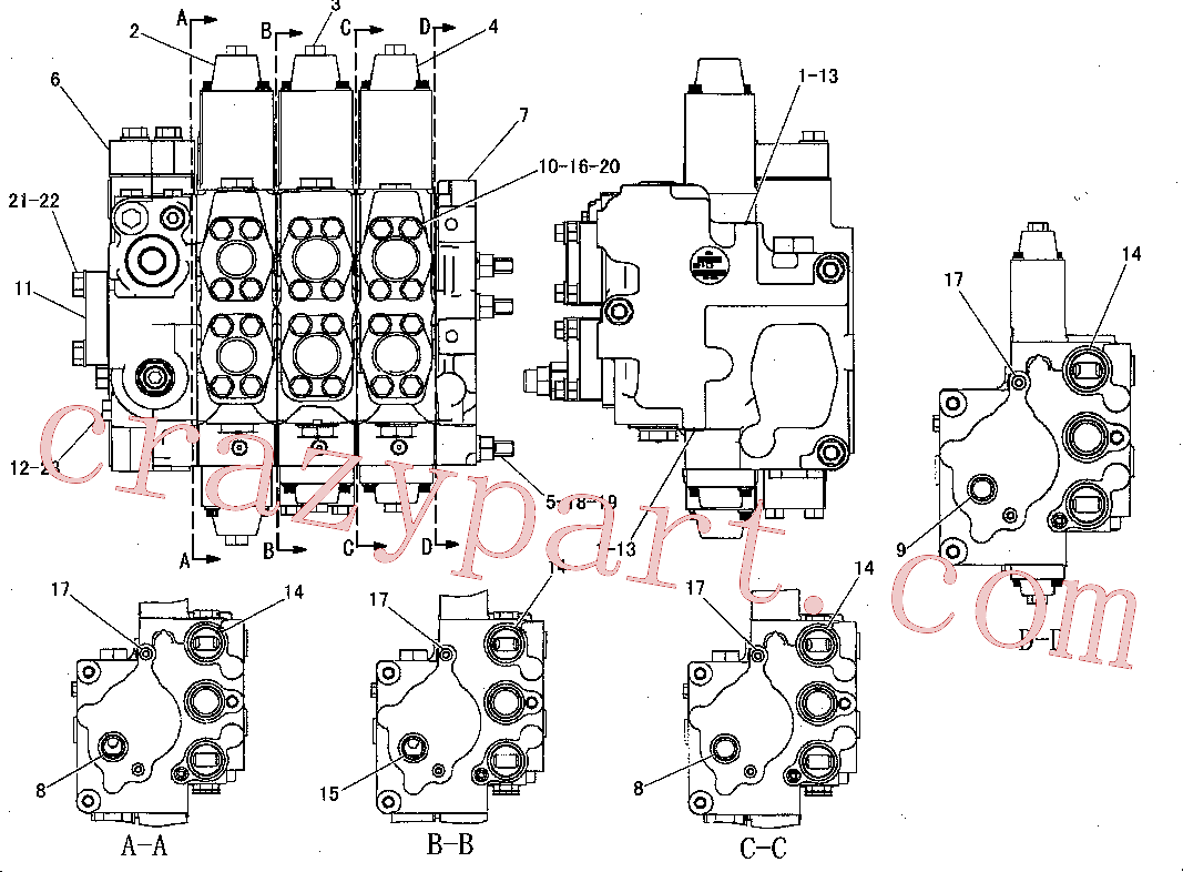 CAT 9S-4188 for 627F Wheel Tractor(WTS) hydraulic system 162-8033 Assembly