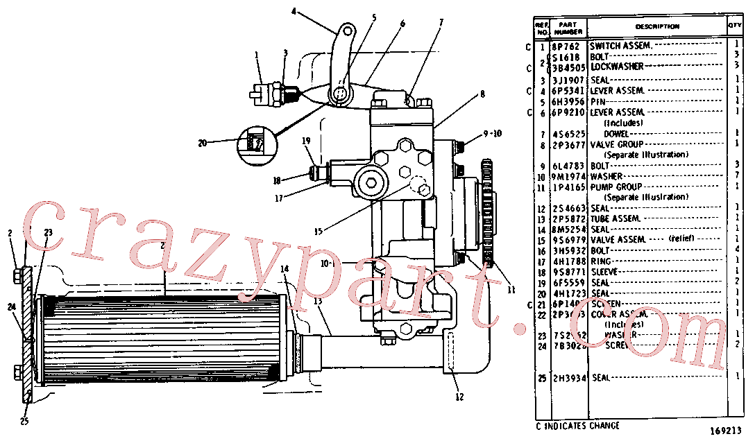 CAT 9B-7235 for D4D Track Type Tractor(TTT) power train-power transmission unit 2P-3678 Assembly