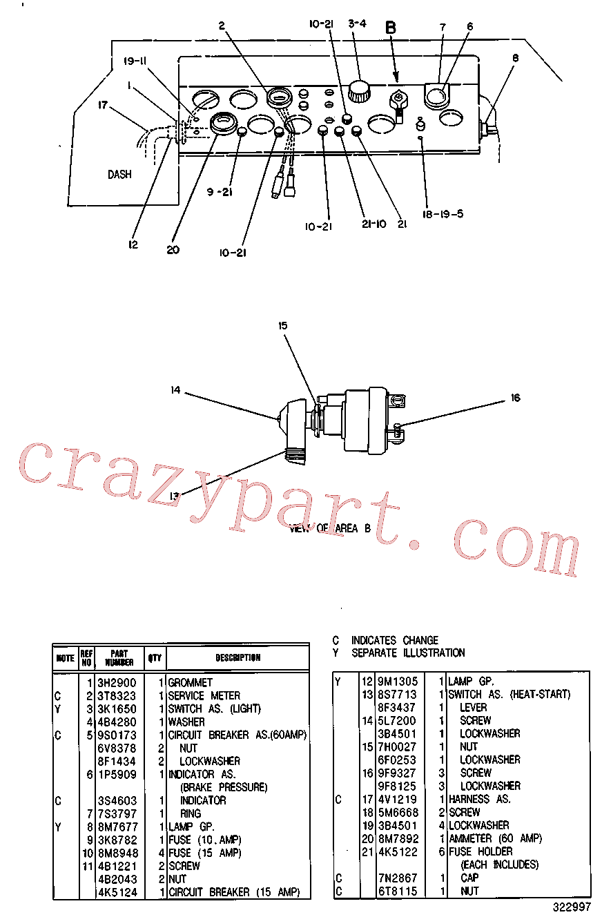 CAT 5F-6044 for 621G Wheel Tractor(WTS) starting and electrical system 5V-4180 Assembly