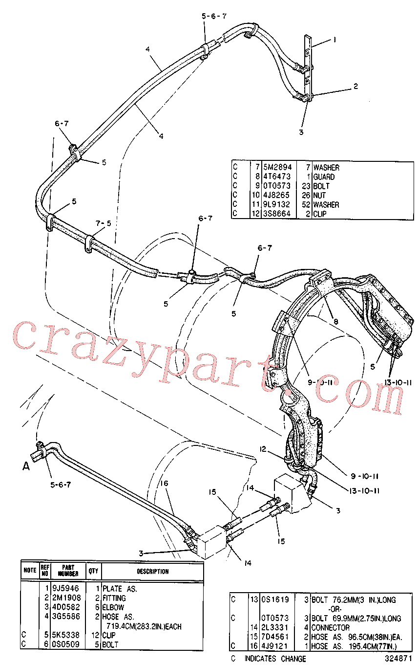 CAT 5K-5338 for 623B Wheel Tractor(WTS) scraper 4T-0002 Assembly