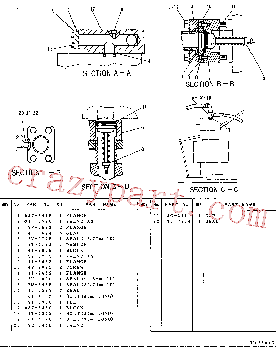 CAT 087-5755 for 325-A L Excavator(EXC) hydraulic system 087-5075 Assembly