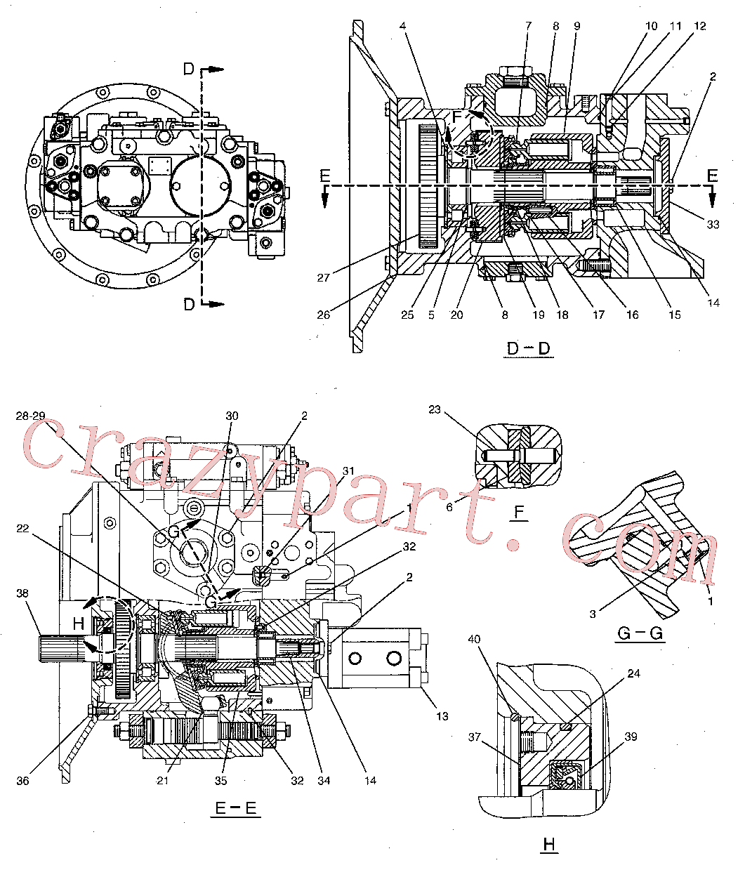 CAT 209-5890 for M325C MH Wheeled Excavator(WHEX) hydraulic system 244-8477 Assembly