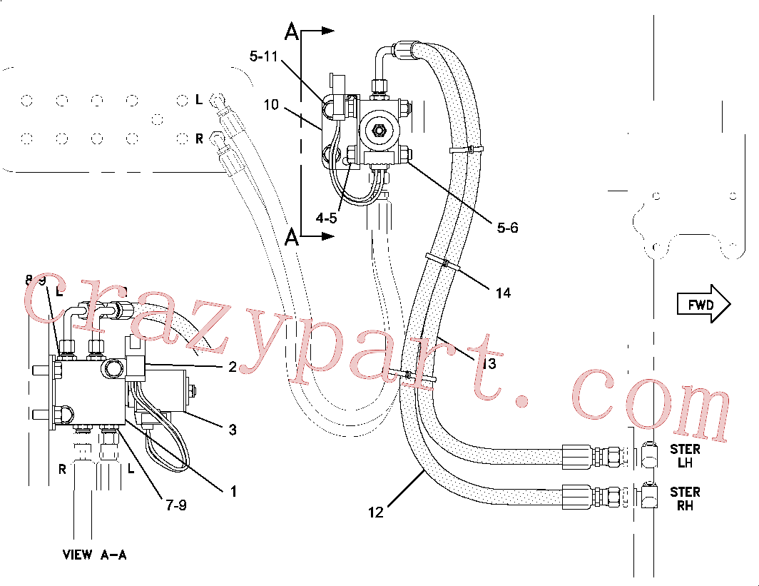 CAT 2P-1314 for G3612 Gas Engine(IENG) steering system 160-1440 Assembly