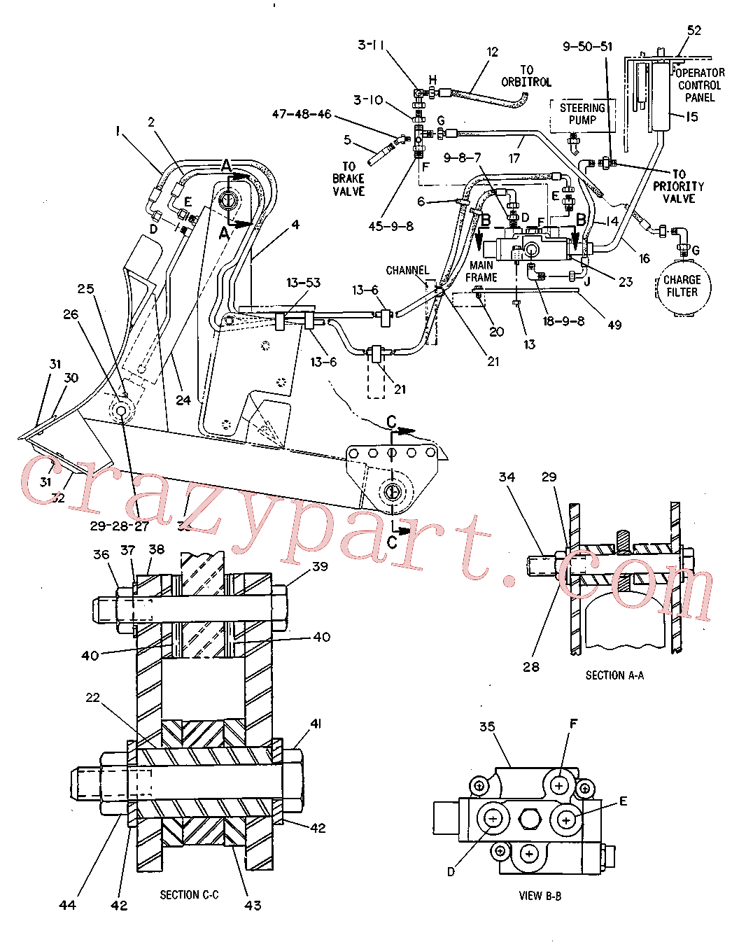 CAT 6V-8995 for 771D Quarry Truck(OHT) hydraulic system 7R-2928 Assembly