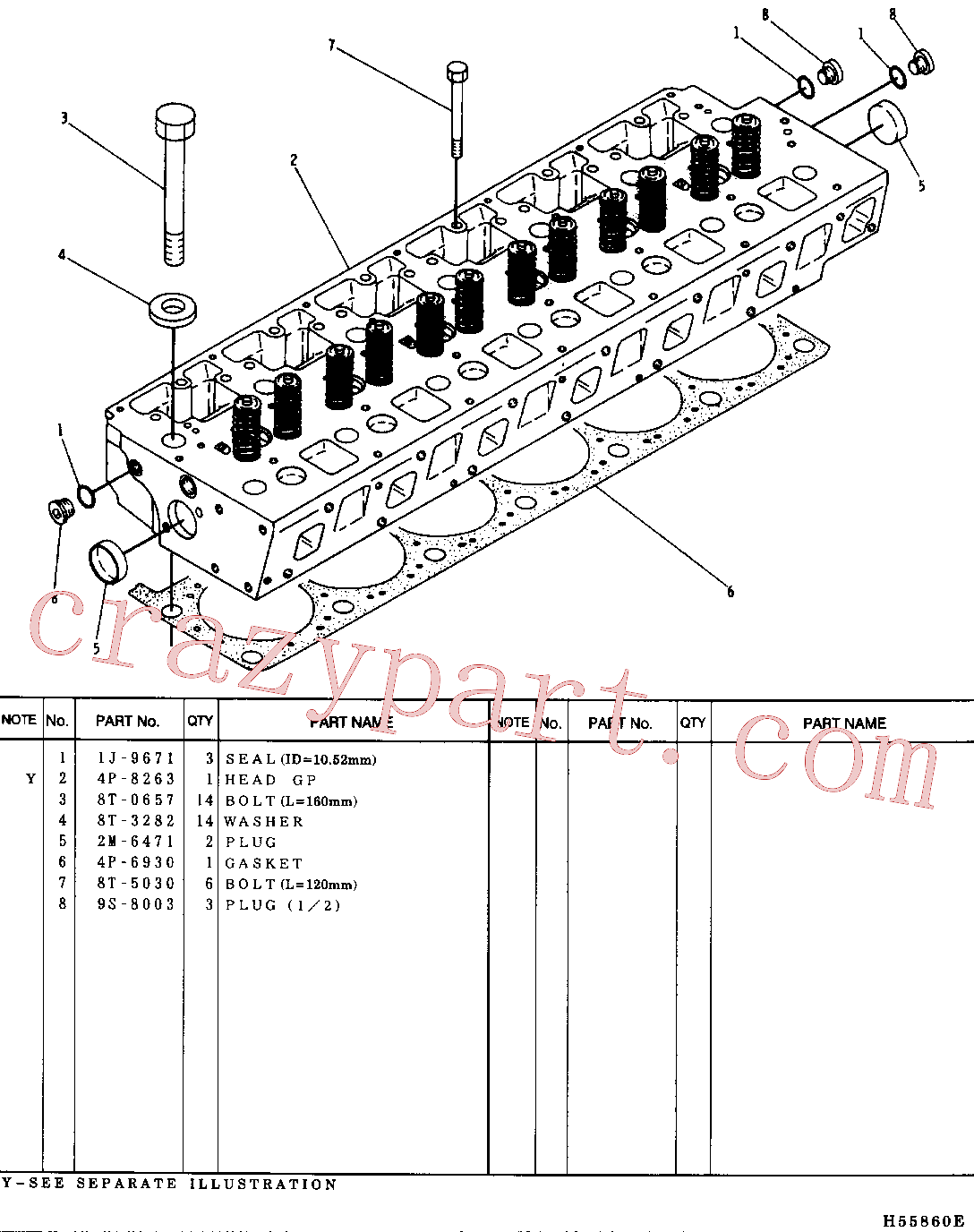 CAT 8T-3282 for 325B Excavator(EXC) basic engine 4P-8264 Assembly