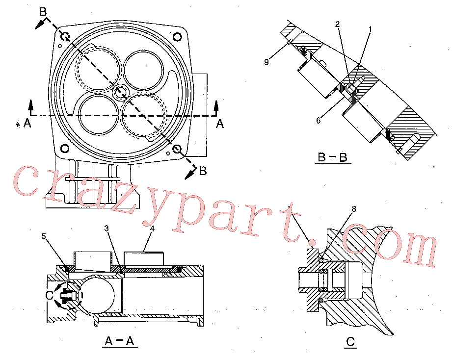 CAT 177-2619 for 323F LN Excavator(EXC) hydraulic system 173-3503 Assembly