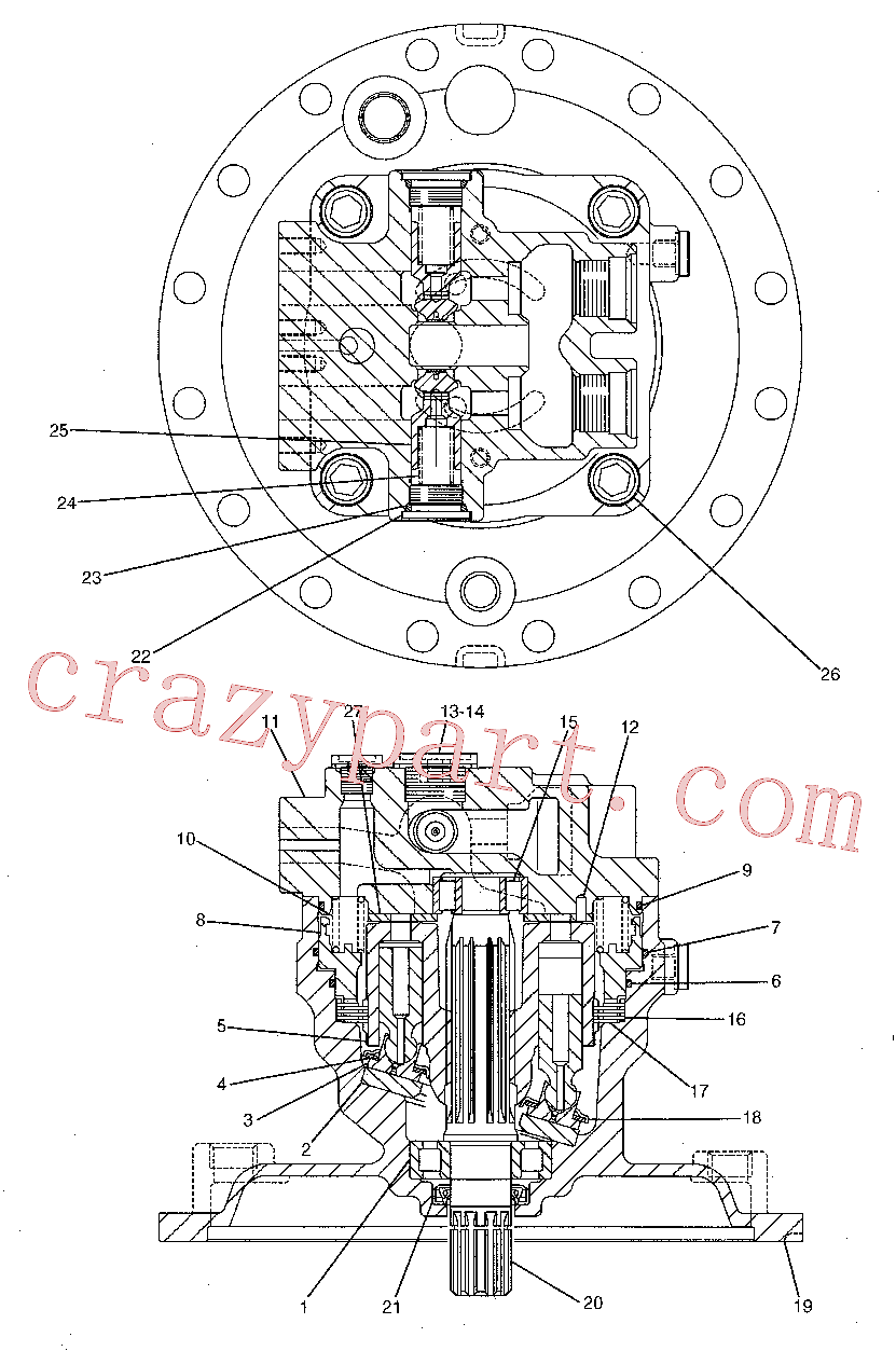 CAT 173-3439 for 319D LN Excavator(EXC) hydraulic system 191-5542 Assembly