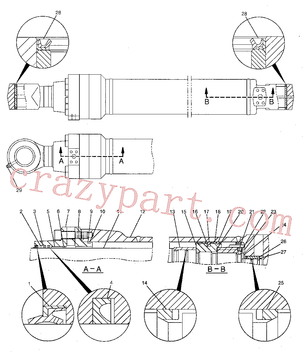 CAT 493-5523 for 321C Excavator(EXC) hydraulic system 204-3615 Assembly