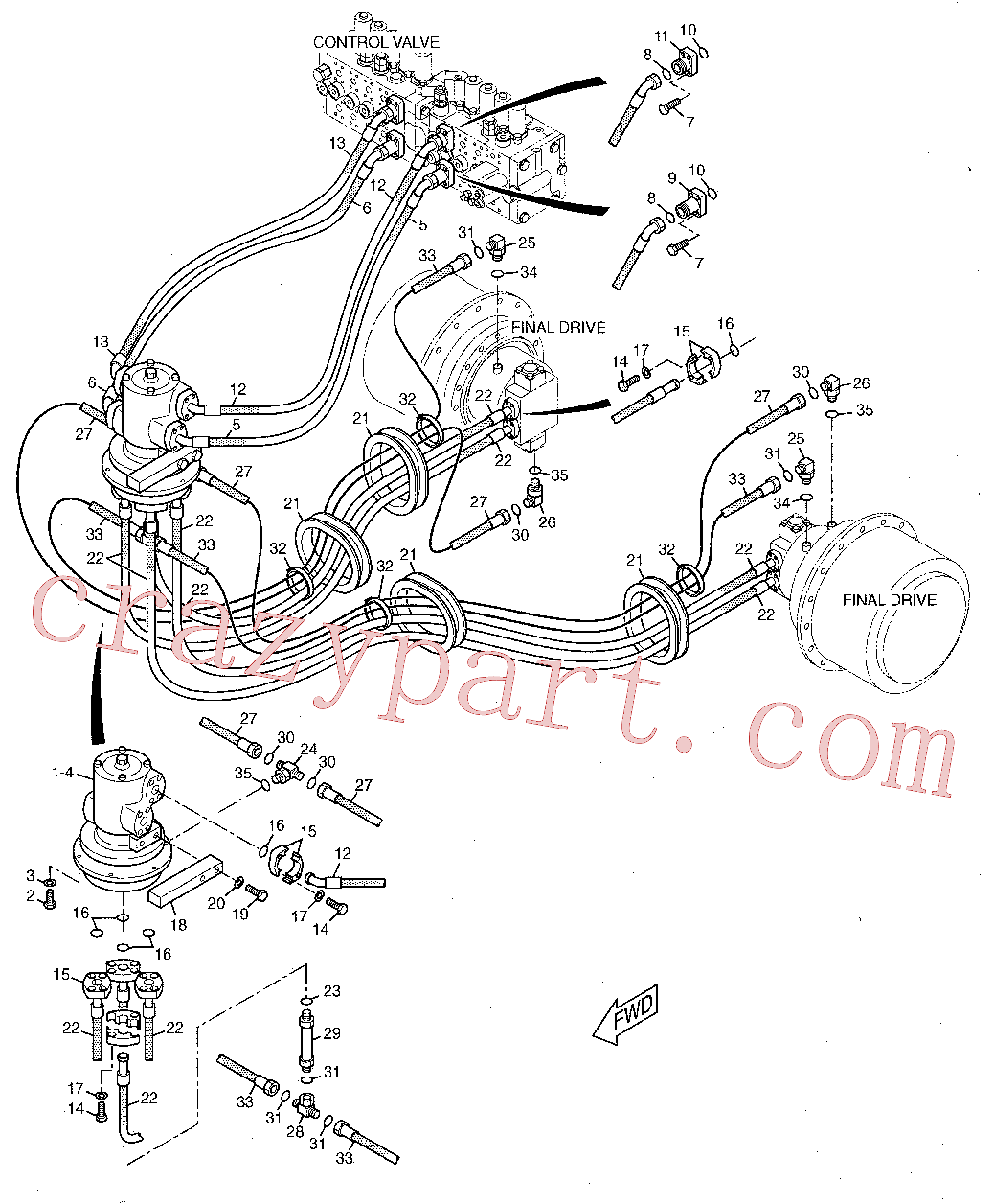 CAT 104-8771 for 323F SA Excavator(EXC) hydraulic system 142-7702 Assembly