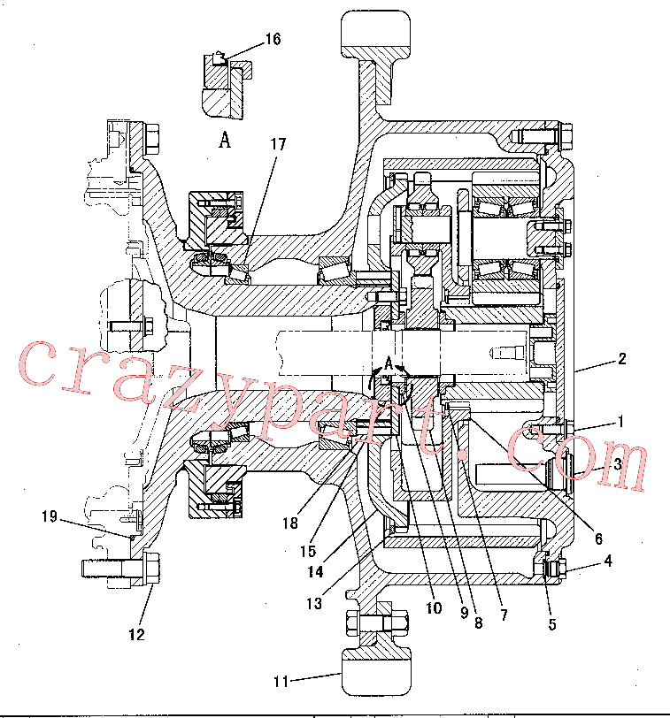 CAT 2P-1370 for 225 Excavator(EXC) power train 180-7918 Assembly