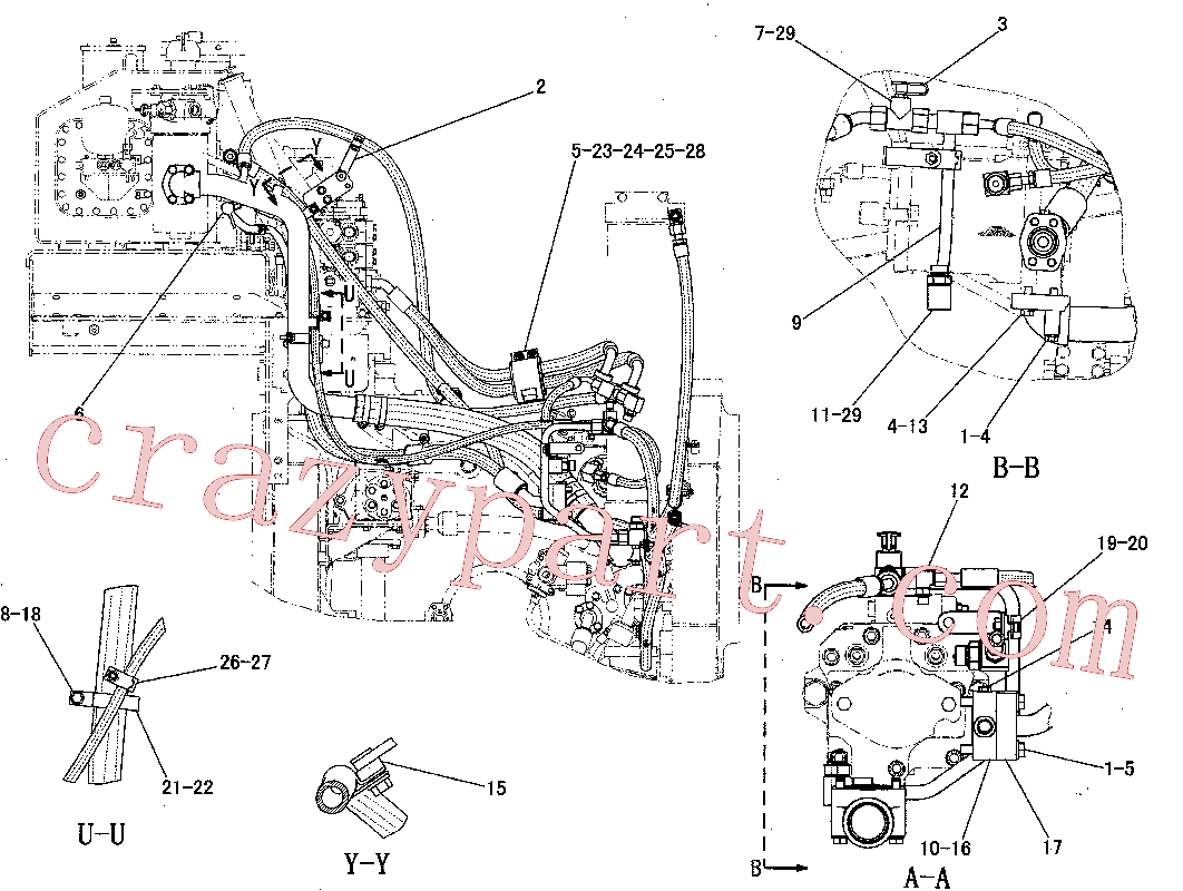 CAT 5R-0940 for 4P Bulldozer(TSKD) hydraulic system 222-1155 Assembly