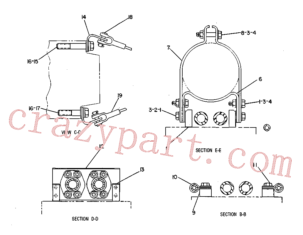 CAT 3V-1999 for 225D Excavator(EXC) hydraulic system 7V-5942 Assembly