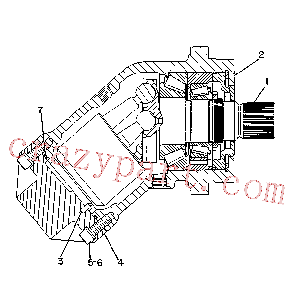 CAT 9W-2105 for 219D Excavator(EXC) hydraulic system 9T-0670 Assembly