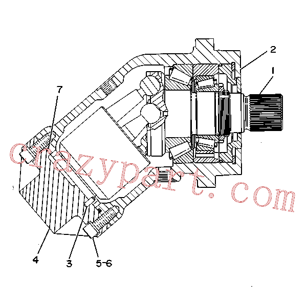 CAT 9T-2004 for 623E Wheel Scraper(WTS) hydraulic system 9T-1062 Assembly