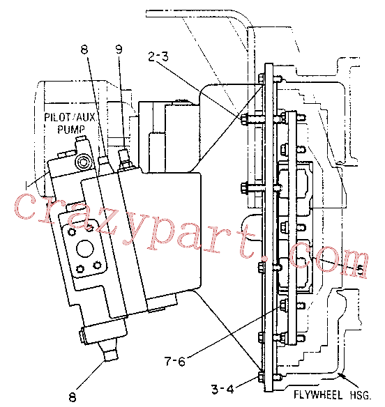 CAT 9T-3400 for 219 Excavator(EXC) hydraulic system 6W-6598 Assembly