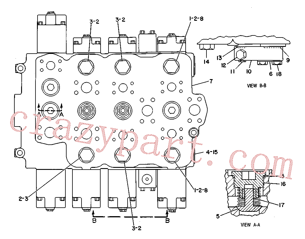 CAT 9J-7815 for 225B Excavator(EXC) hydraulic system 9T-0162 Assembly