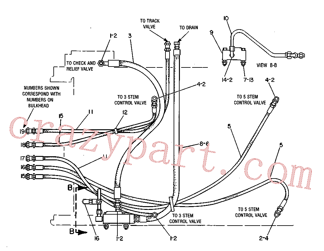 CAT 9S-8752 for 631G Wheel Tractor(WTS) hydraulic system 3V-5332 Assembly