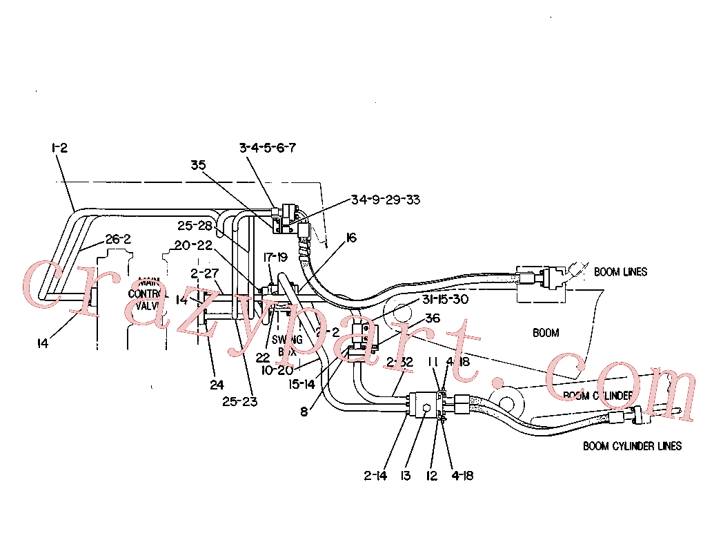 CAT 2P-3931 for 215C Excavator(EXC) hydraulic system 5C-0869 Assembly