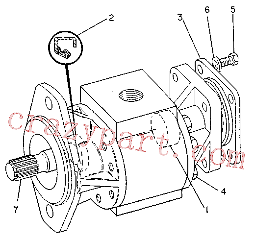 CAT 1U-1822 for 229D Excavator(EXC) hydraulic system 6C-1972 Assembly