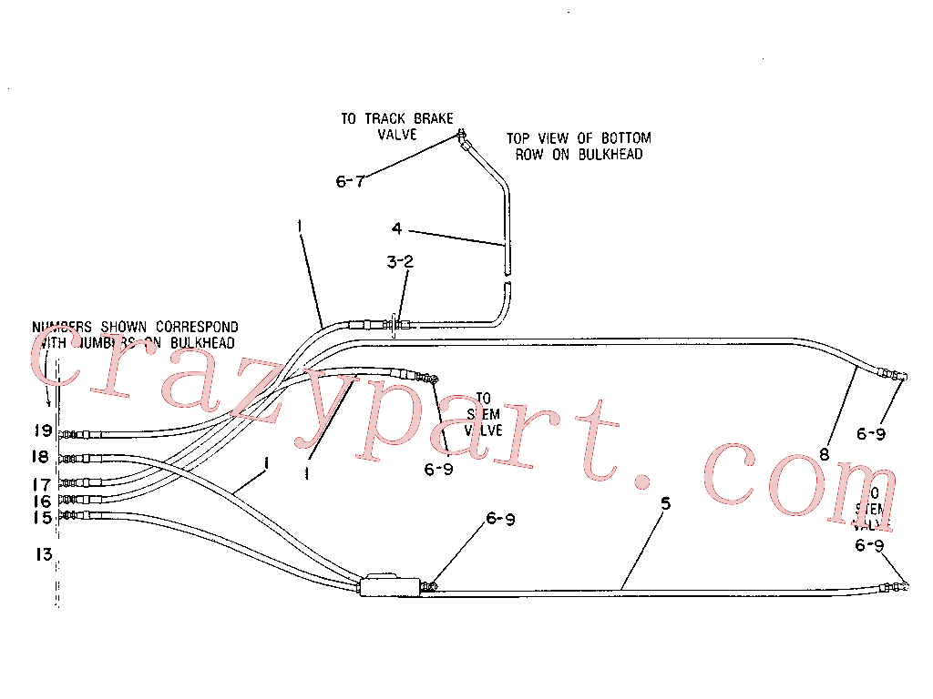CAT 4T-9980 for 225B Excavator(EXC) hydraulic system 7V-9987 Assembly