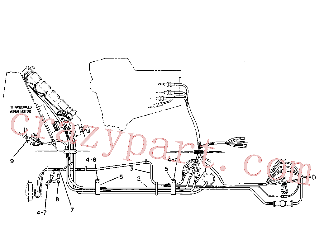 CAT 5F-6044 for 920 Wheel Loader(WTL) starting and electrical system 4V-9128 Assembly