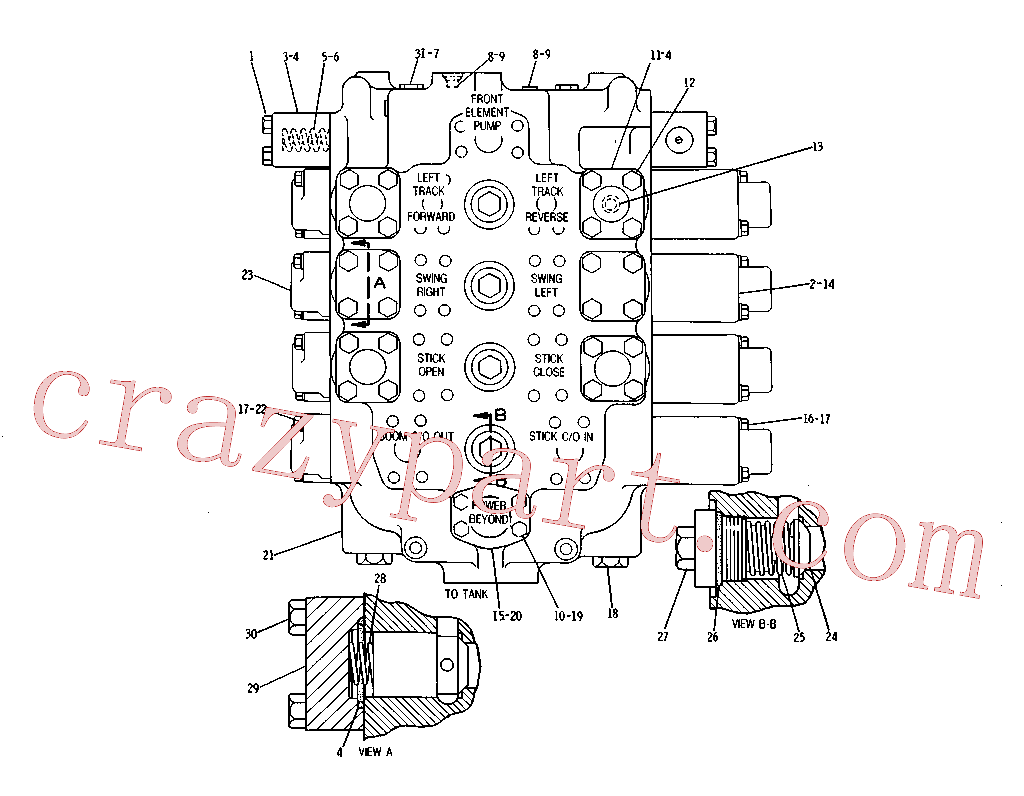 CAT 9J-3616 for 219 Excavator(EXC) hydraulic system 3G-8125 Assembly