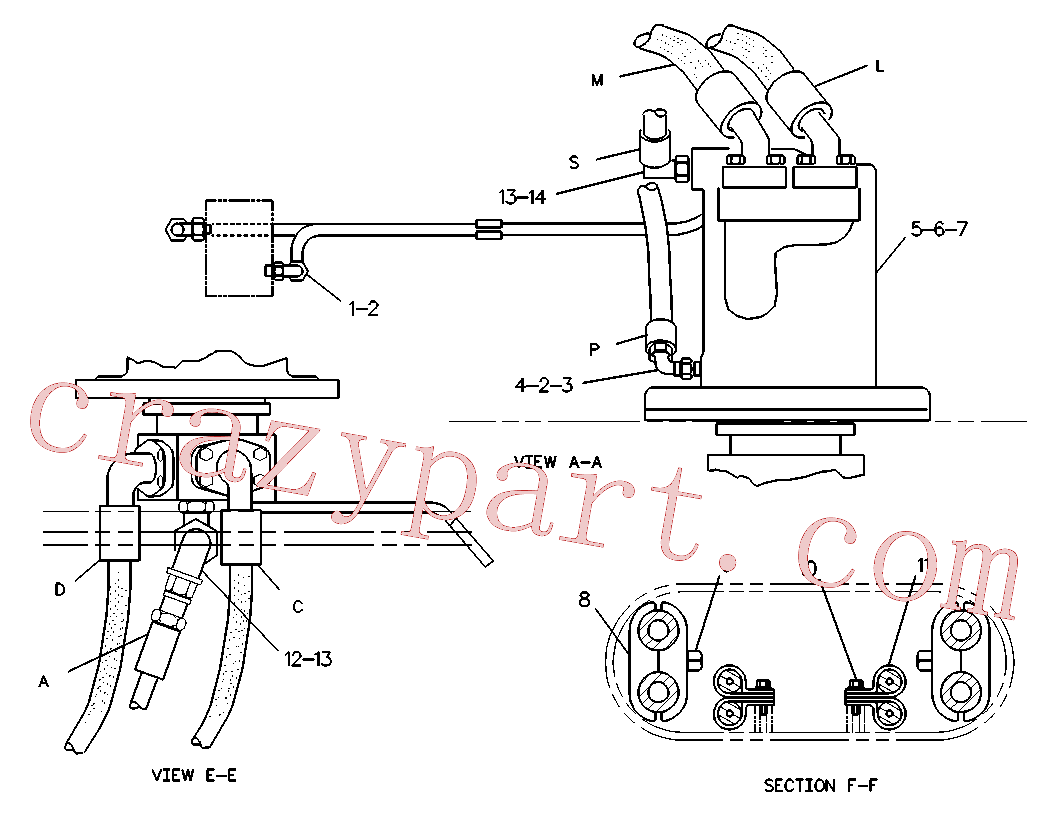 CAT 8J-0397 for 215D Excavator(EXC) hydraulic system 6W-3543 Assembly