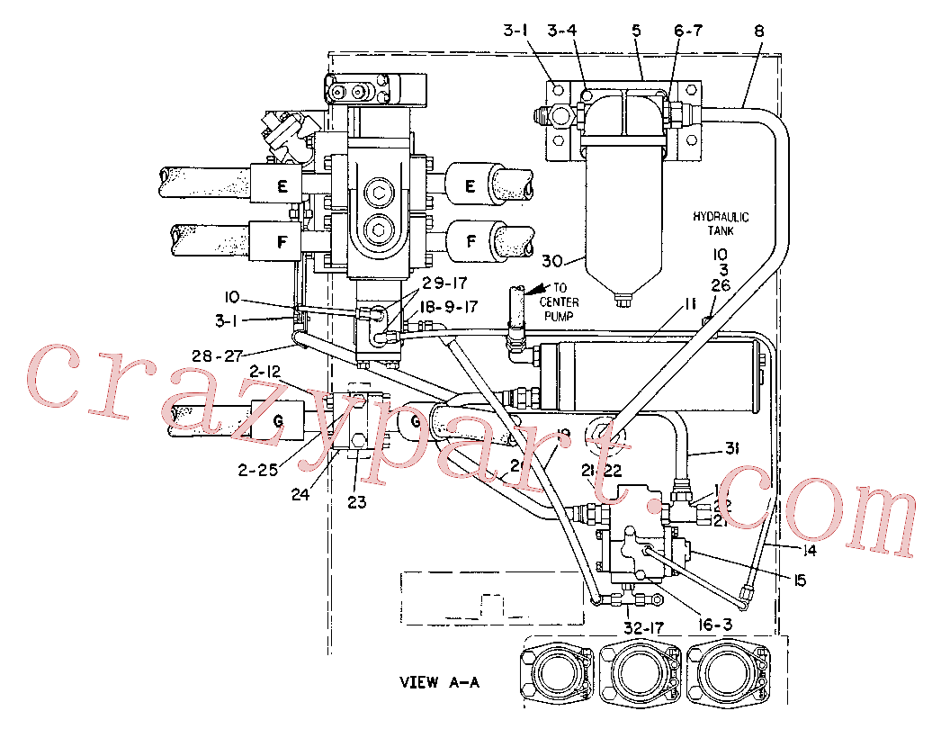 CAT 8K-2778 for 235 Excavator(EXC) hydraulic system 6C-2161 Assembly