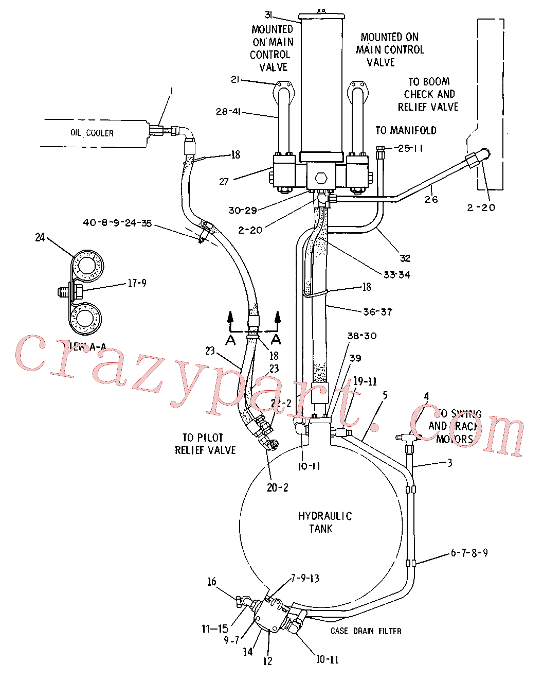 CAT 3G-8457 for 215 Excavator(EXC) hydraulic system 5C-0383 Assembly