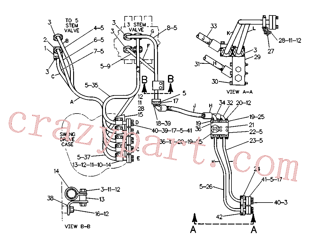 CAT 8K-3042 for 245B Excavator(EXC) hydraulic system 4V-9396 Assembly