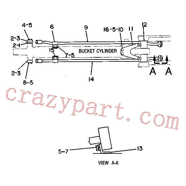 CAT 5C-4580 for 215C Excavator(EXC) hydraulic system 5C-5788 Assembly