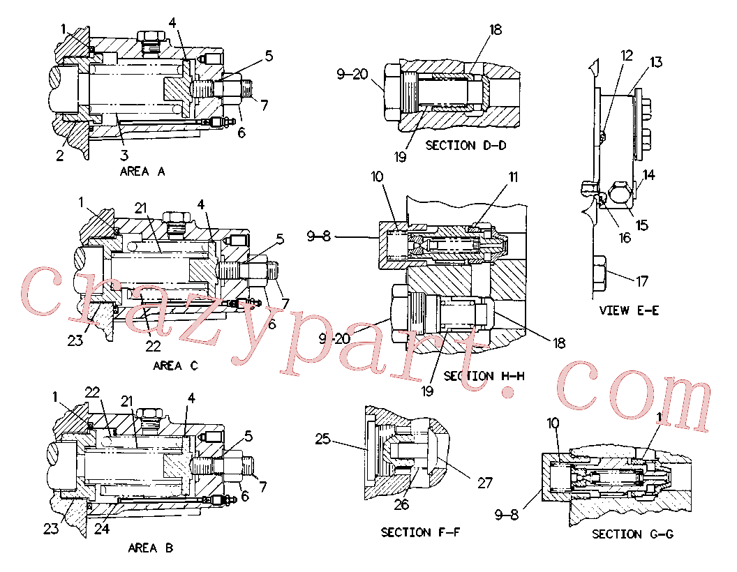CAT 9T-0122 for 215D Excavator(EXC) hydraulic system 9T-2293 Assembly