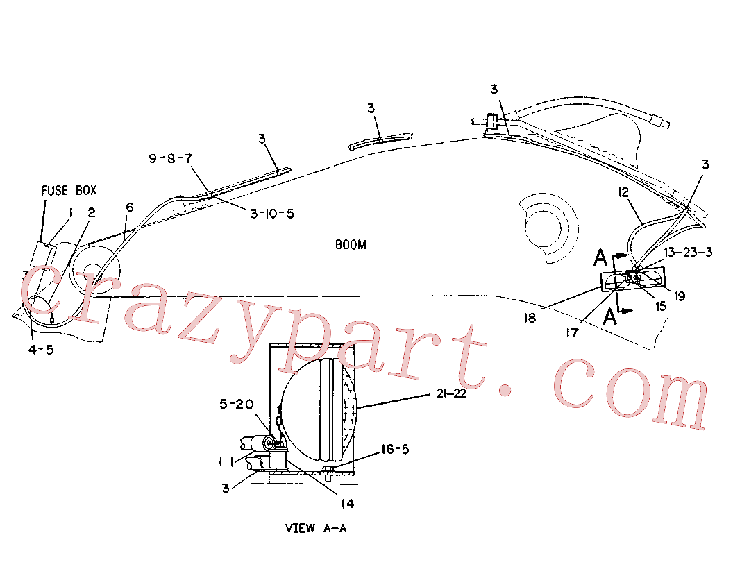 CAT 5R-4797 for IT28B Integrated Toolcarrier(IT) electrical system 6C-1725 Assembly