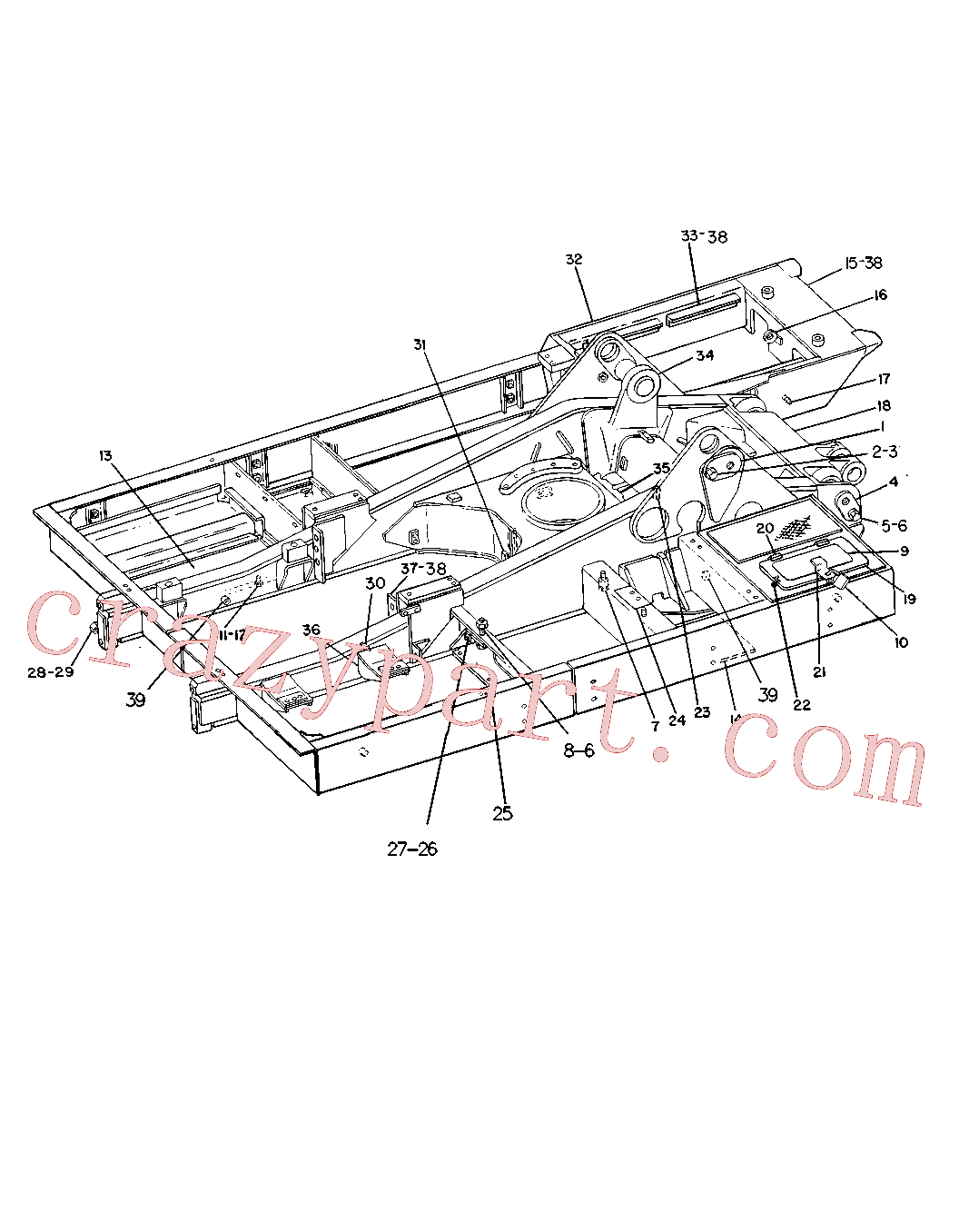 CAT 4J-4177 for 225 Excavator(EXC) chassis and undercarriage 8V-8328 Assembly