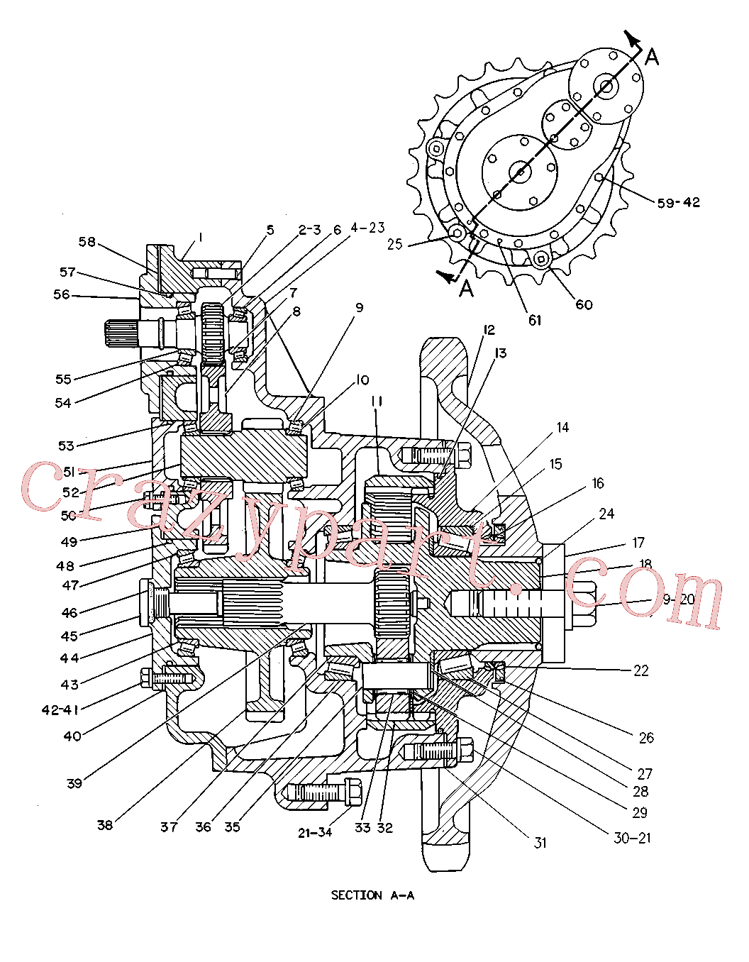 CAT 6A-7534 for 215B Excavator(EXC) power train 8V-5917 Assembly