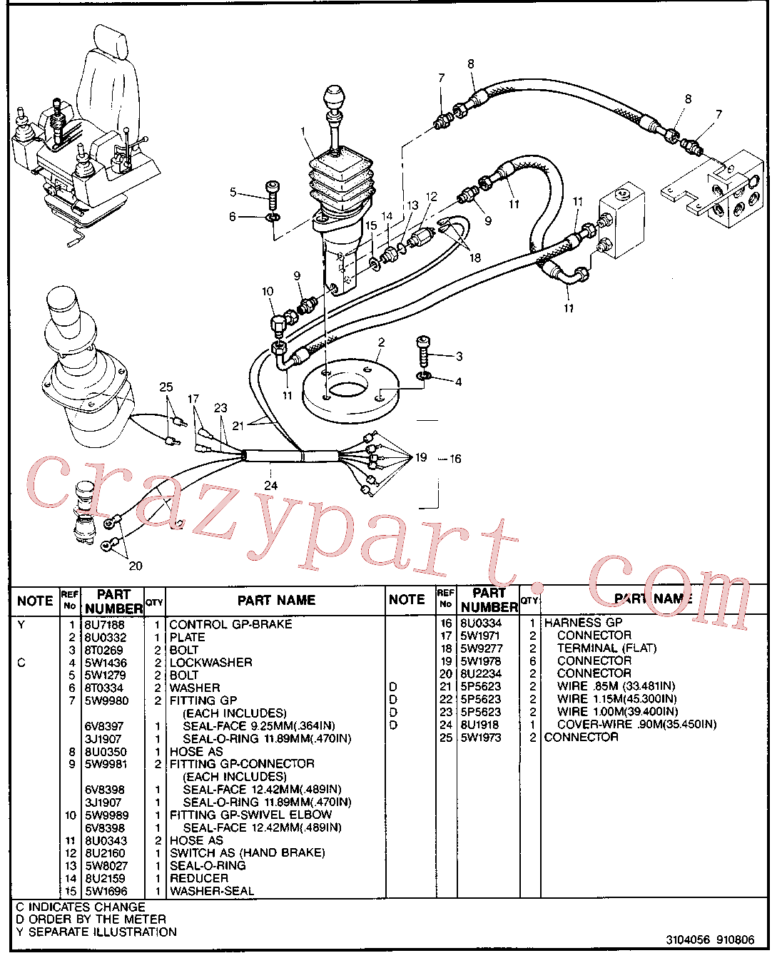 CAT 8U-0302 for 214B FT Excavator(EXC) hydraulic system 5W-9803 Assembly