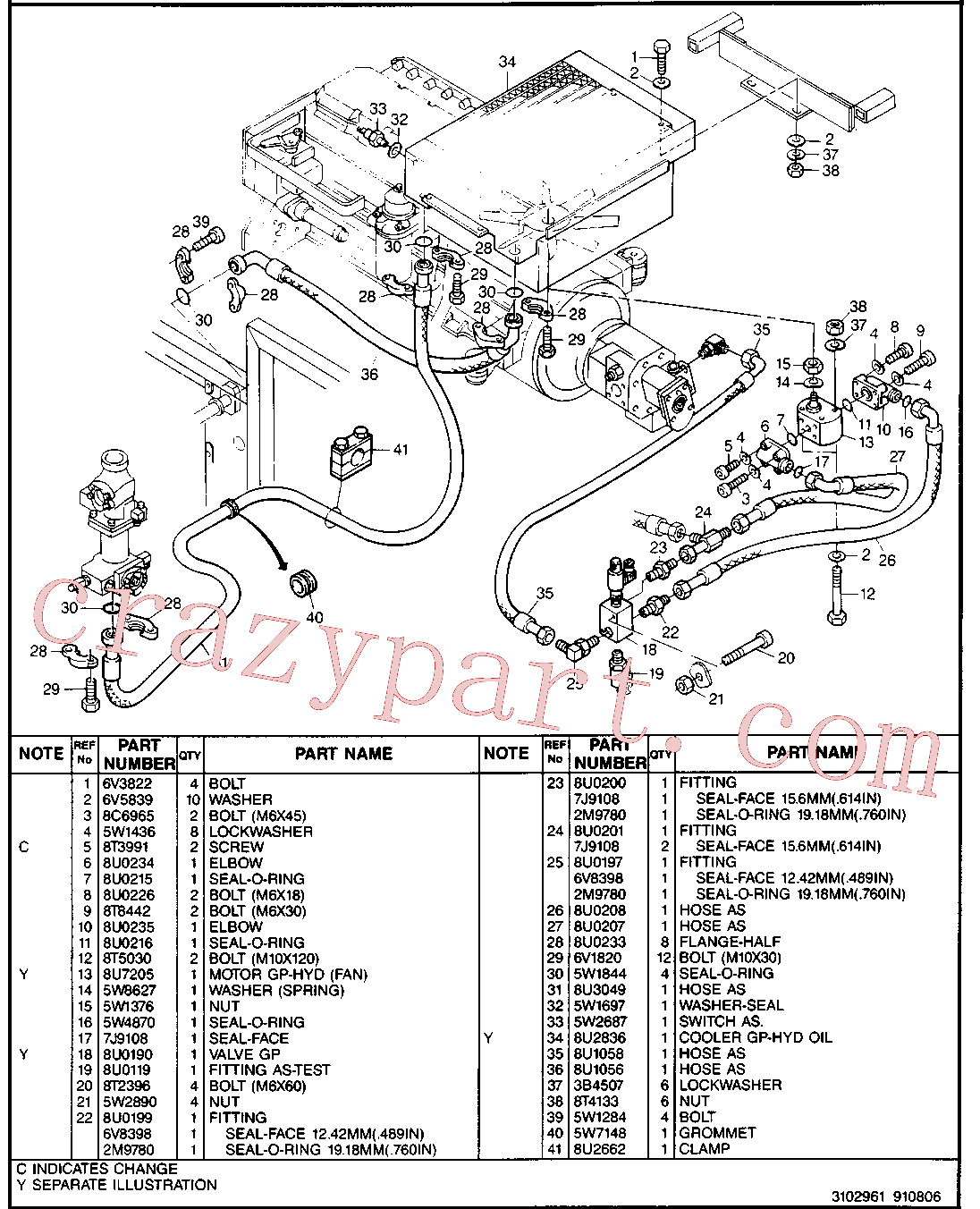 CAT 8U-2156 for 214B Excavator(EXC) hydraulic system 8U-3029 Assembly