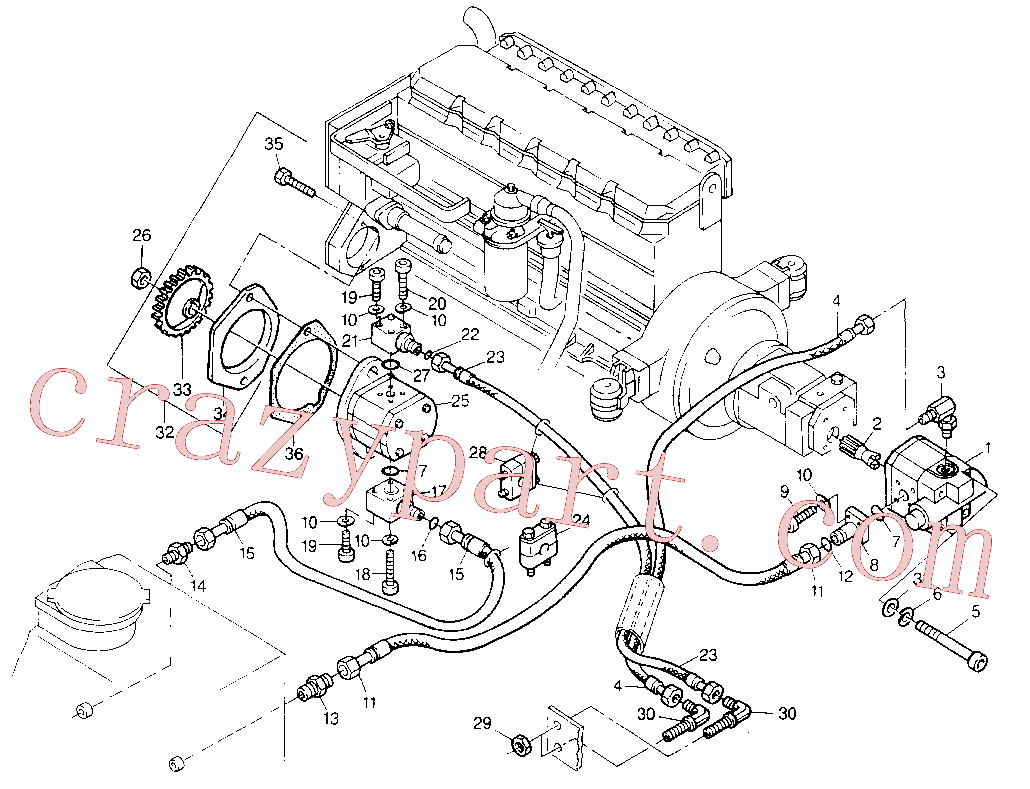 CAT 8U-3668 for 213B Excavator(EXC) hydraulic system 8U-3030 Assembly