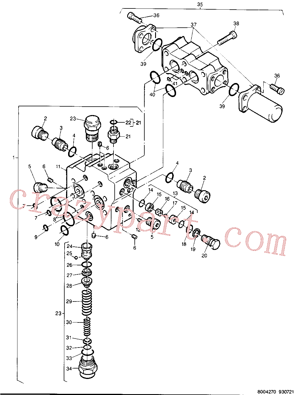 CAT 5W-7482 for 214B FT Excavator(EXC) chassis & undercarriage 8U-2212 Assembly