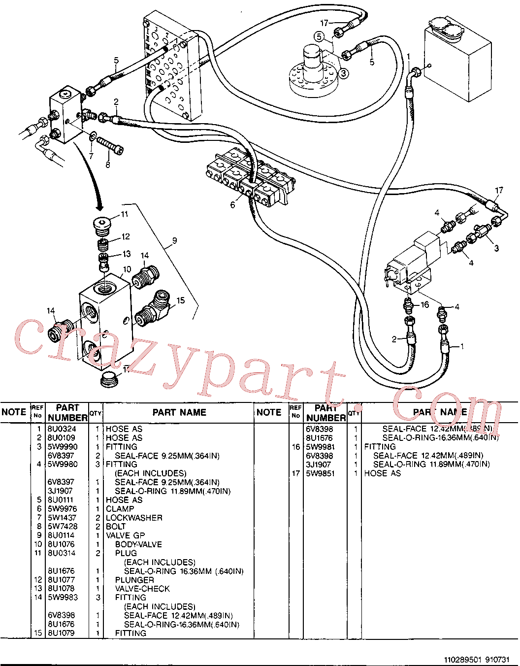 CAT 5W-4303 for 213B Excavator(EXC) hydraulic system 8U-4338 Assembly